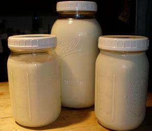 Saturday's milk harvest