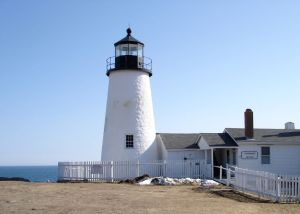 Pemaquid Point Lighthouse in the March sun