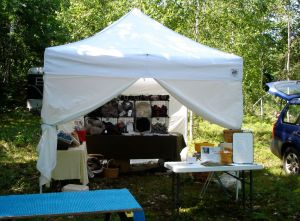 Maine Fiber Arts tour weekend... studio in a tent!
