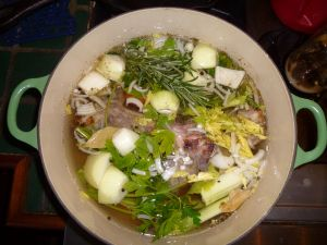 Lamb stock pot
