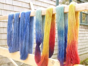 4 lonely dyed skeins
