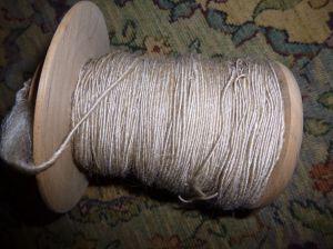 Spun silk/camel blend