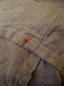 Hemming a lovely linen pant leg