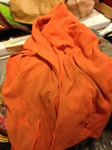 My old favorite blaze orange fleece vest