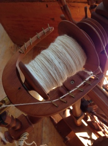 Spinning up Fern's fleece