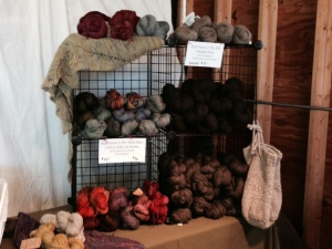 My yarn display. Not everything, but what was there was good
