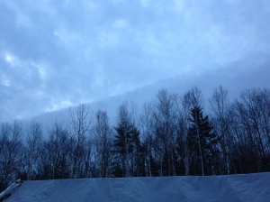 5:45 a.m. today.  Rainclouds coming in.