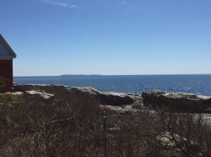 View of Mohegan Island from lighthouse park, on a much more pleasant day than we are seeing this week!