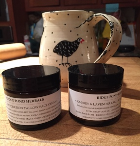 Guinea hen cup and new skin cream.