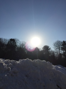 Sun on the snow